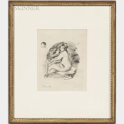Pierre-Auguste Renoir (French, 1841-1919)      Étude de femme nue, assise, variante