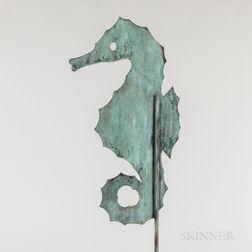 Sheet Copper Seahorse Weathervane