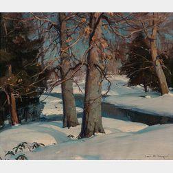 Emile Albert Gruppé (American, 1896-1978)      Winter Stream