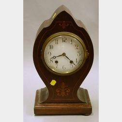New Haven Inlaid Mahogany Mantel Clock