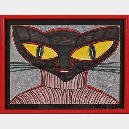 Harold Theodore (Ted) Gordon (American, b. 1924)      Turtleneck Cat