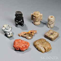 Archaic-style Carved Stone Toggles