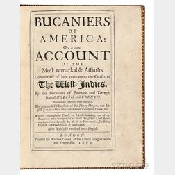Exquemelin, Alexandre Olivier (c. 1645-1707) Bucaniers of America: or a True Account of the Most Remarkable Assaults Committed of Late