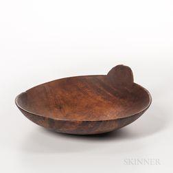Eastern Woodlands Carved Wood Bowl