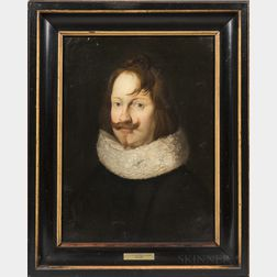 Manner of Jan Anthonisz van Ravesteyn (Dutch, c. 1570-1657)      Portrait of an Auburn-haired Gentleman in a Ruff