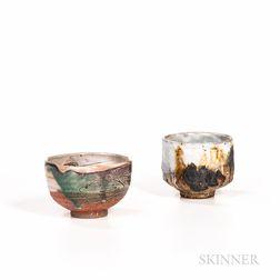 Two Makoto Yabe (Japanese/American, 1947-2005) Tea Bowls