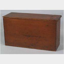 Red Painted Pine Shaker Milk Box