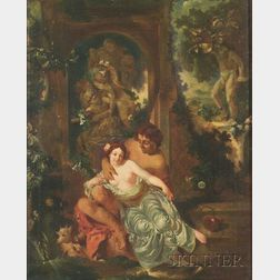 French School, 18th Century Style    The Garden of Love