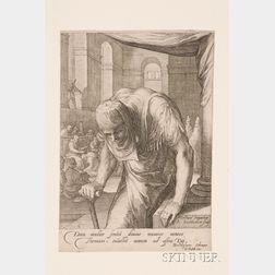Jan Pietersz Saenredam (Dutch, 1565-1607), After Hendrik Goltzius (Dutch, 1558-1617)      Christ Healing the Crippled Woman.