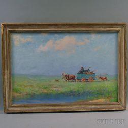 Fred Pye (American, 1882-1964)      The Wagon.