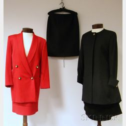 Two Lady's Versace Suits and an Additional Skirt