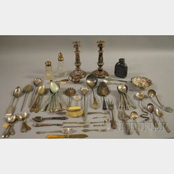 Group of Silver, Silver-plated, and Silver-mounted Tableware