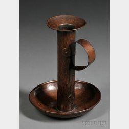 Gustav Stickley Arts & Crafts Hammered Copper Chamberstick