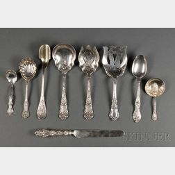 Eight Assorted Sterling Silver Serving Pieces