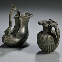 Two Grand Tour Bronze Replicas of Classical Vessels