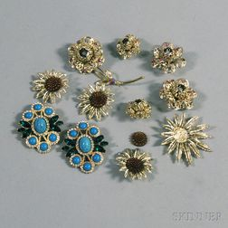 Small Group of Signed Sarah Coventry Costume Jewelry