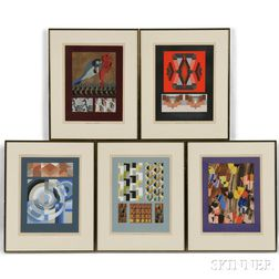 Edouard Benedictus (French, 1878-1930)      Fifteen Framed Prints from the Portfolio Relais