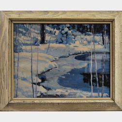 American School, 20th Century      Winter Landscape.