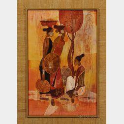 Seah Kim Joo (b. 1939), Batik Painting