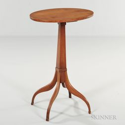 Maple Oval-top Candlestand