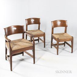 Three Richard Riemerschmid (1868-1957) Chairs