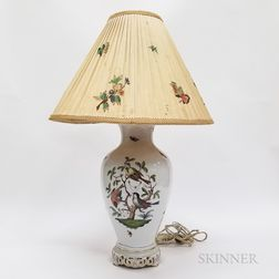 "Herend ""Rothschild Bird"" Porcelain Table Lamp and Shade"
