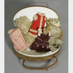 Wardrobe for a 7-inch Doll in an Oval Presentation Box