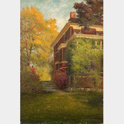 C. Myron Clark (American, 1858-1923)    Steps to the Garden