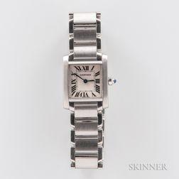 "Cartier ""Tank Francaise"" Stainless Steel Wristwatch"