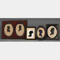 Five Framed Silhouettes