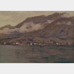 Charles Warren Eaton (American, 1857-1937)    Lake Como, Italy