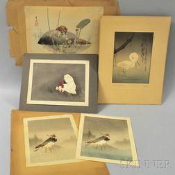 Five Shin Hanga   Woodblock Prints
