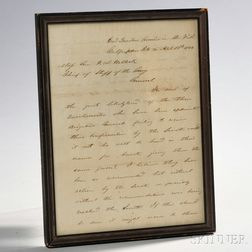 Signed Letter from Ulysses S. Grant to General Henry Halleck