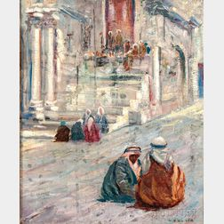 Caleb Arnold Slade (American, 1882-1961)    Orientalist Street Scene