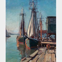 Emile Albert Gruppé (American, 1896-1978)      New England Harbor