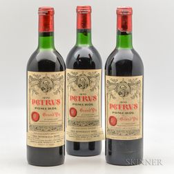Chateau Petrus 1970, 3 bottles