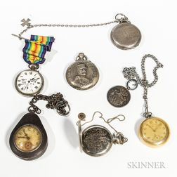 Six WWI-era Pocket Watches
