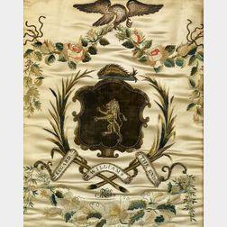Silk Needlework Williams Coat of Arms