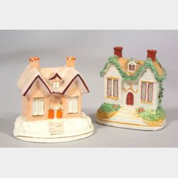 Two Staffordshire Pottery Cottages