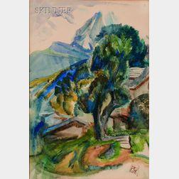 Henry George Keller (American, 1869-1949)      The Matterhorn, Tyrol