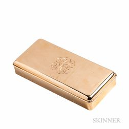 14kt Gold Box, Cartier