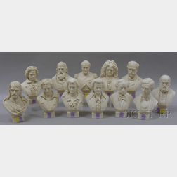Twelve Parian Historical and Character Busts