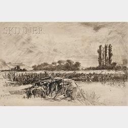 Sir Francis Seymour Haden (British, 1818-1910)      A Water Meadow