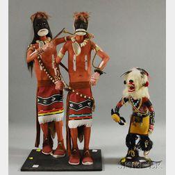 Three Contemporary Southwest Kachinas.