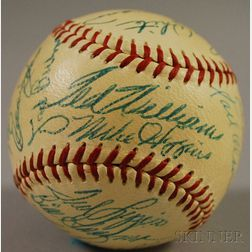 1955 Boston Red Sox Autographed Baseball
