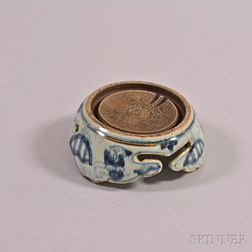 Blue and White Export Inkstone