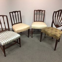 Four Federal Mahogany Chairs.     Estimate $20-200