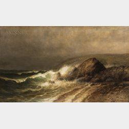Wesley Elbridge Webber (American, 1841-1914)    Crashing Surf