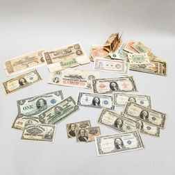 Group of American and World Banknotes