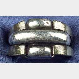18kt Gold and Sterling Silver Ring, Aldo Cipullo, Cartier